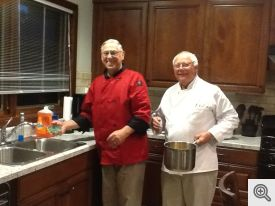Chefs Tony Cifelli (l) and Fred Jungers