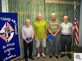 Pictured (l-r): Bob Lennen, Kenneth Silvers, Tom Hubert, and William Butler.