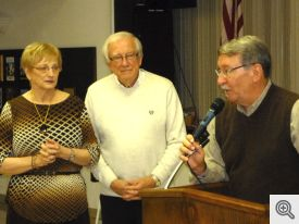 John & Carolyn recognized by Gary Wolfer