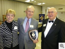 Mary Anne and Bob Honzik receiving an award from Gerald Krawczynski.