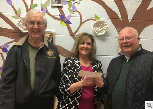 HSVKofC Donation to Caring Place Jan 2018
